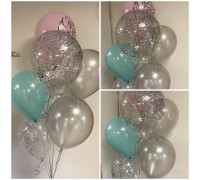 Waterfall from helium balloons!