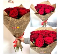 21 red roses 60 cm in craft!
