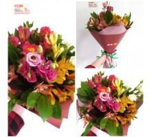A bright bouquet of alstroemeria and eustoma!