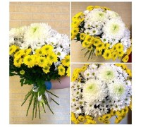A bouquet of single-headed and spray chrysanthemums!