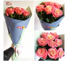 9 delicate roses 50 cm!