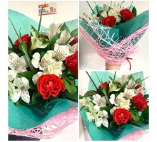 Bouquet of alstroemeria and roses!