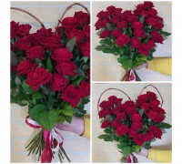 Heart of red roses!