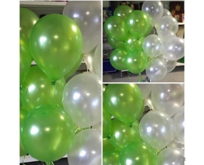 2 waterfalls of one-color balloons!