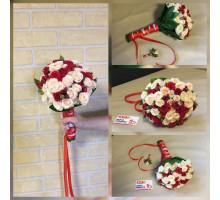 Свадебный букет из кустовой розы!